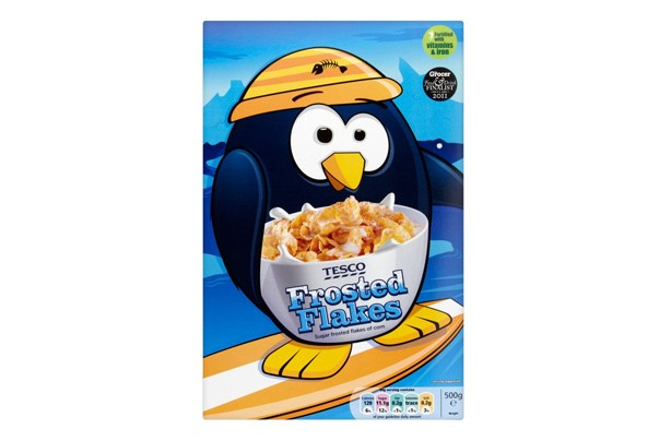 Tesco frosted flakes kids' cereal