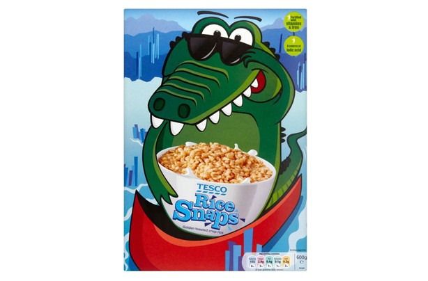Tesco rice snaps kids' cereal