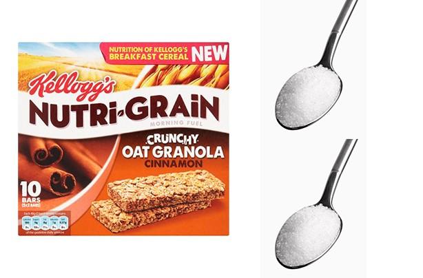 Kellog's Nutri-Grain Crunchy Oat Granola Cinnamon Bars