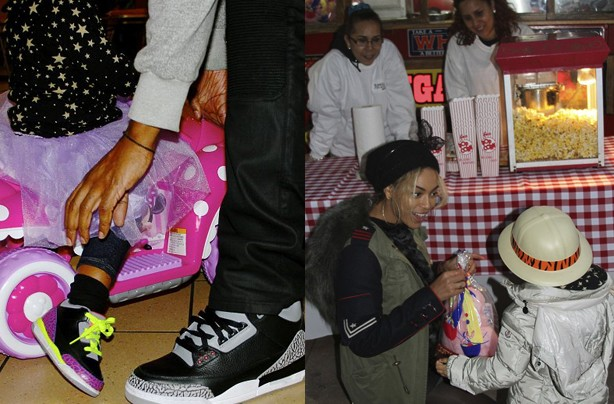 Jay Z and Blue IVy, Beyonce and Blue Ivy
