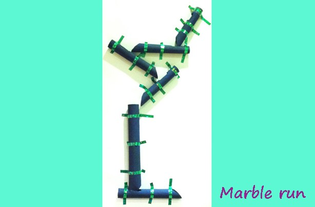 10 ways with toilet rolls: marble run