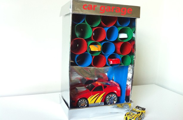 10 ways with toilet rolls: toy cars garage