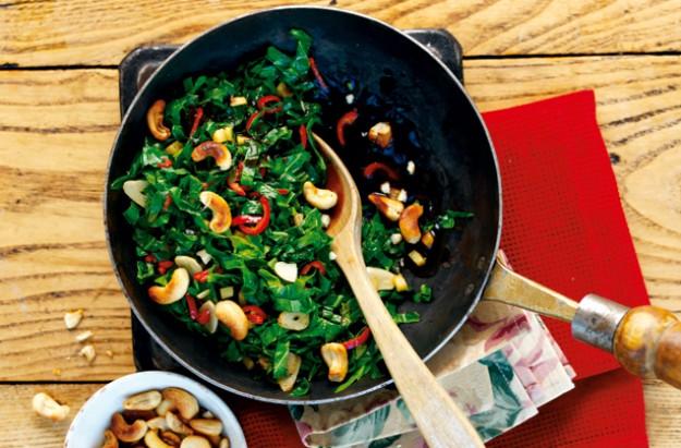 stir fried spring greens
