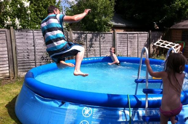 Carly Smith's summer pool fun picture