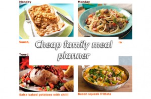Cheap weekly meal planner