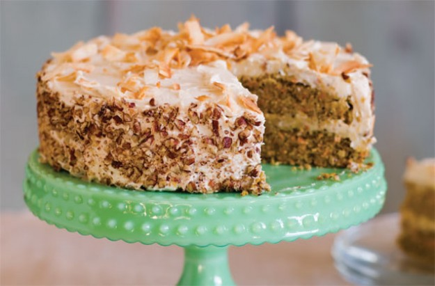 Gluten-free and sugar-free carrot cake