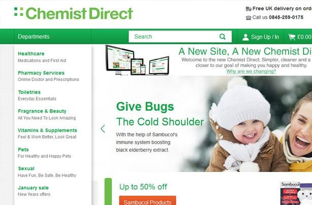 Top 10 bargain websites: Chemist Direct