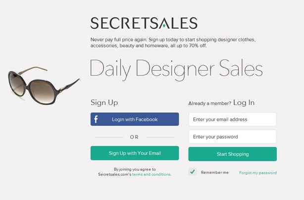 Top 10 bargain websites: SecretSales