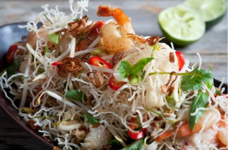 Hairy Bikers' crispy noodles with prawn and crab