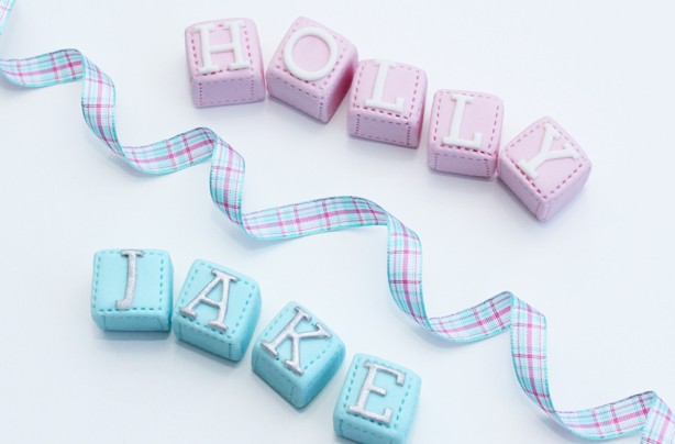Fondant name blocks
