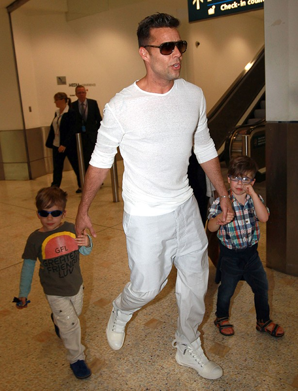 Ricky Martin with Matteo and Valentino
