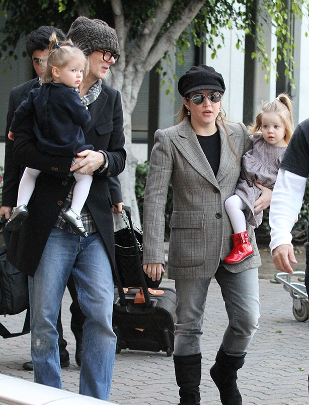 Lisa Marie Presley with Finley and Harper