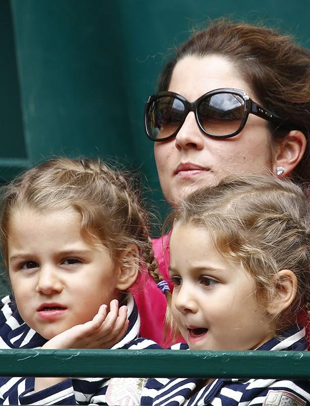 Roger Federer, Charlene Riva and Myla Rose