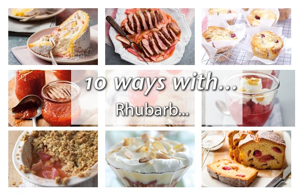 10 ways with rhubarb