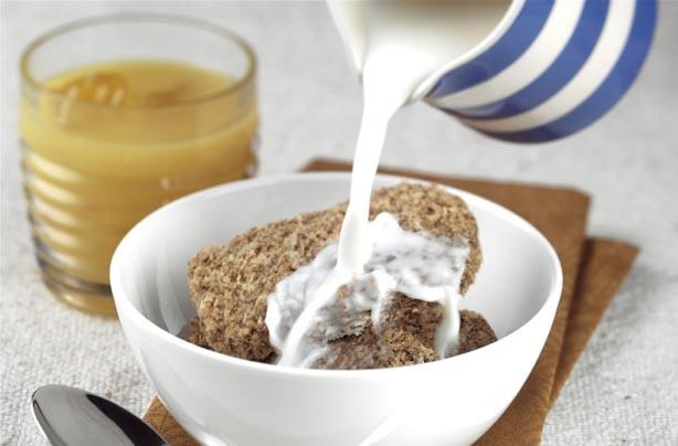 Weetabix and milk