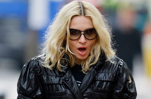 Madonna yawning