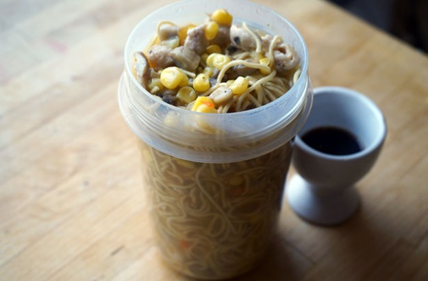 Homemade pot noodle