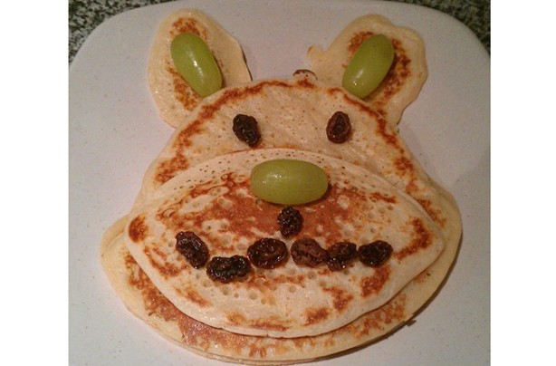 Lorraine Tinsley pancake bear for her daughter