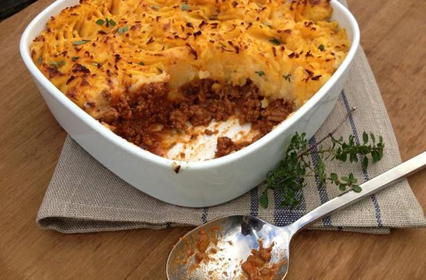Sarah Stubbs cottage pie with sweet potato mash