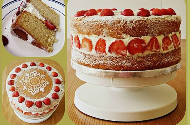 Sinead Kennedy Victoria sponge with cream and strawberries