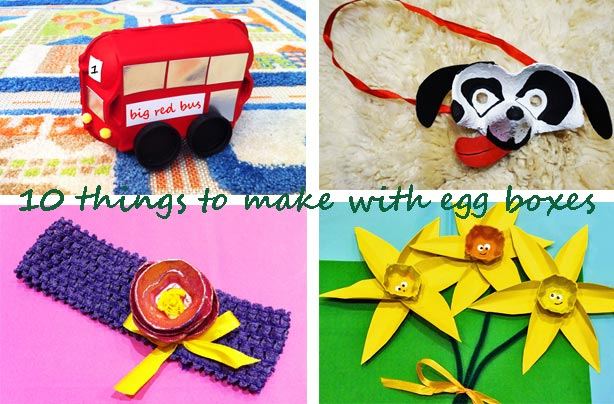 10 crafts with egg boxes