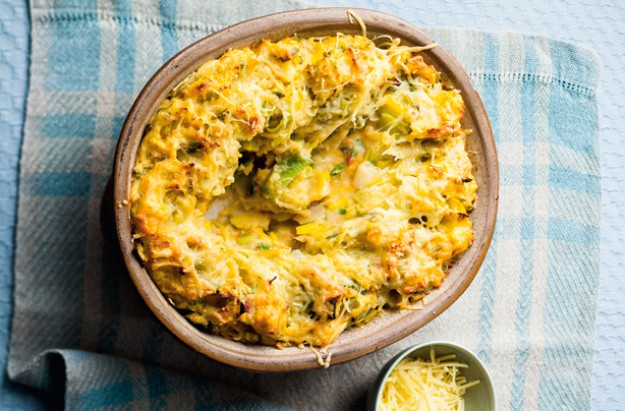 Potato leek and cheese pie