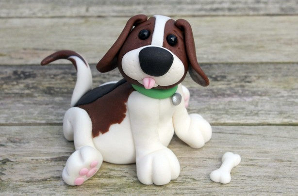 Dog cake decoration