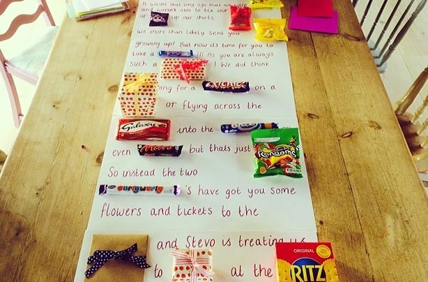 Make a confectionery story poster