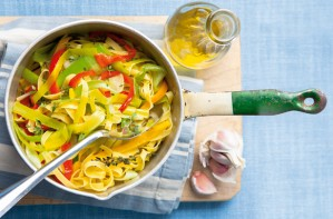 Leek and pepper Tagliatelle