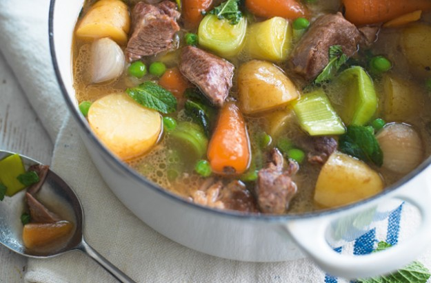 Slow cooked spring lamb stew