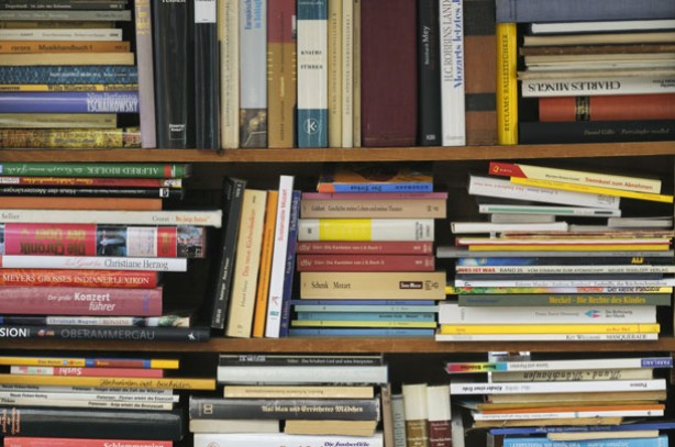 Reorganise bookshelves
