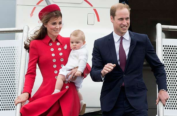 Duke and Duchess of Cambridge and Prince George royal tour