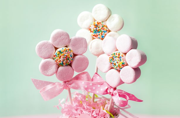 Marshmallow flowers