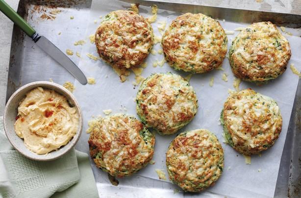Watercress cheese scones