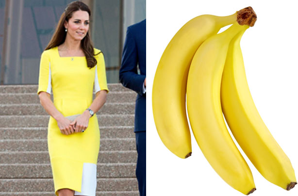 William tells Kate she looks like a banana, but when else has she resembled fruit & veg?
