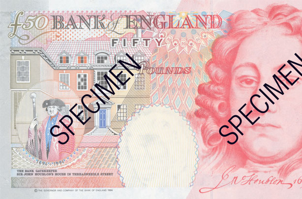 Do you have a £50 note? Check it's not being withdrawn