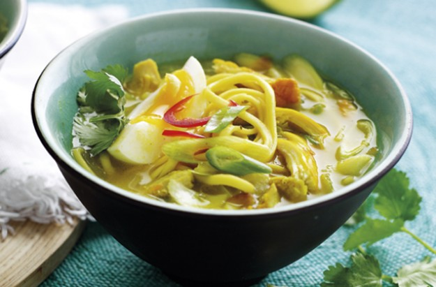 Burmese chicken noodles