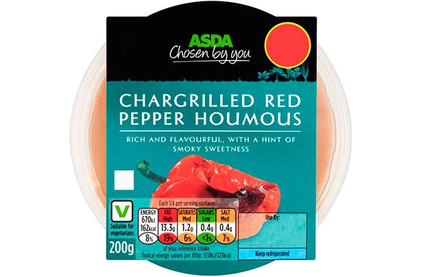 ASDA Chosen by You Chargrilled Red Pepper Houmous 200g