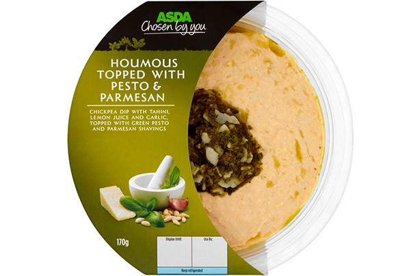 ASDA Chosen by You Houmous Topped with Pesto & Parmesan 170g