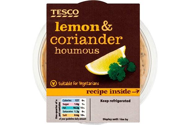Tesco Lemon and Coriander Houmous 182g