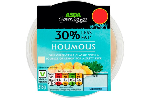 ASDA Reduced Fat Houmous Dip 215g