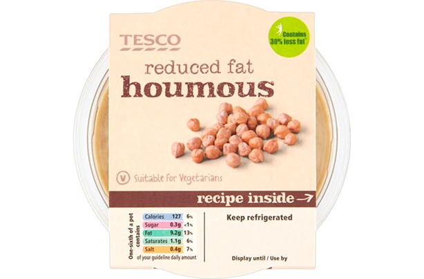 Tesco Reduced Fat Houmous 300g