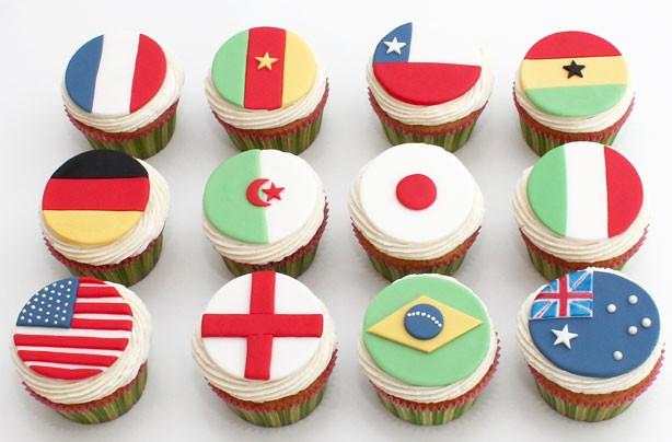 Cake Decor Flags : Flag cupcake decorations - goodtoknow