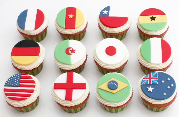 Flag cupcake decorations
