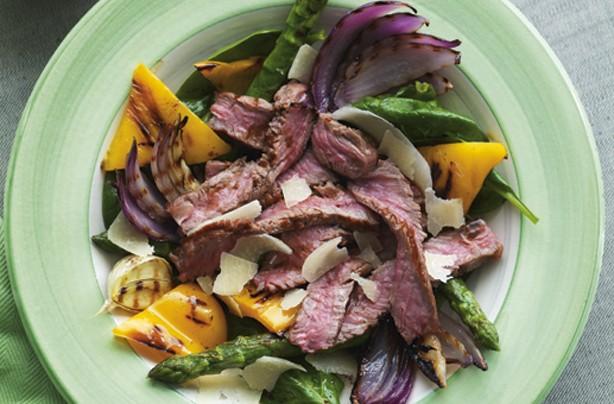 Hot steak salad