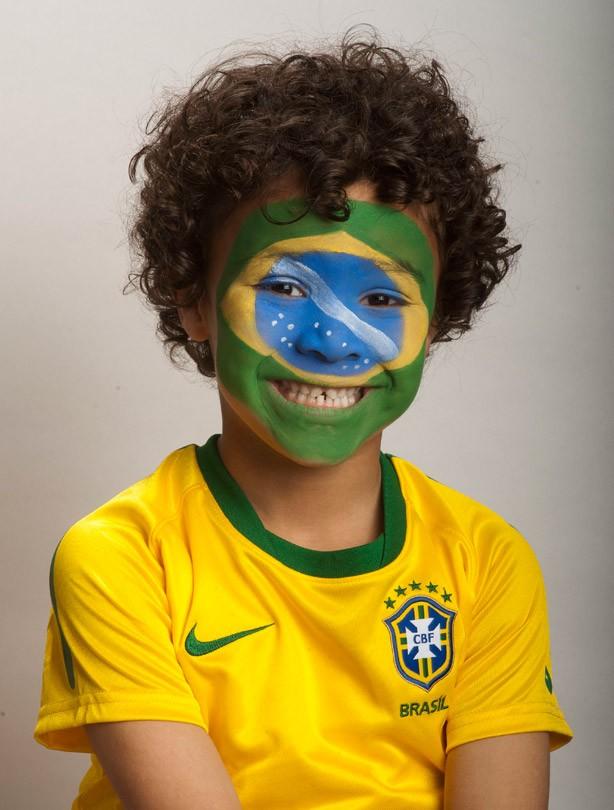 Brazil face paint