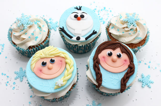 frozen inspired cupcake decorations