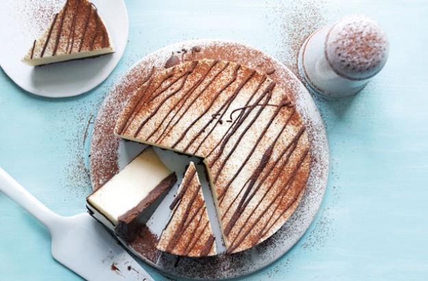 Slimming World's chocolate vanilla cheesecake
