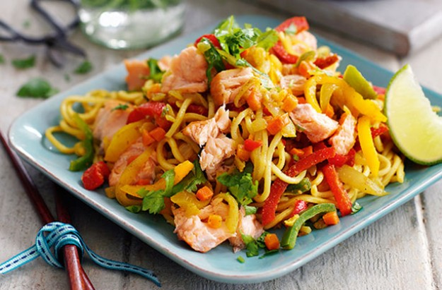 Slimming World 39 S Spicy Hot Smoked Salmon Noodles Recipe
