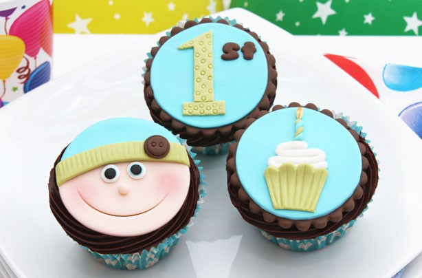 Baby's 1st birthday cupcakes